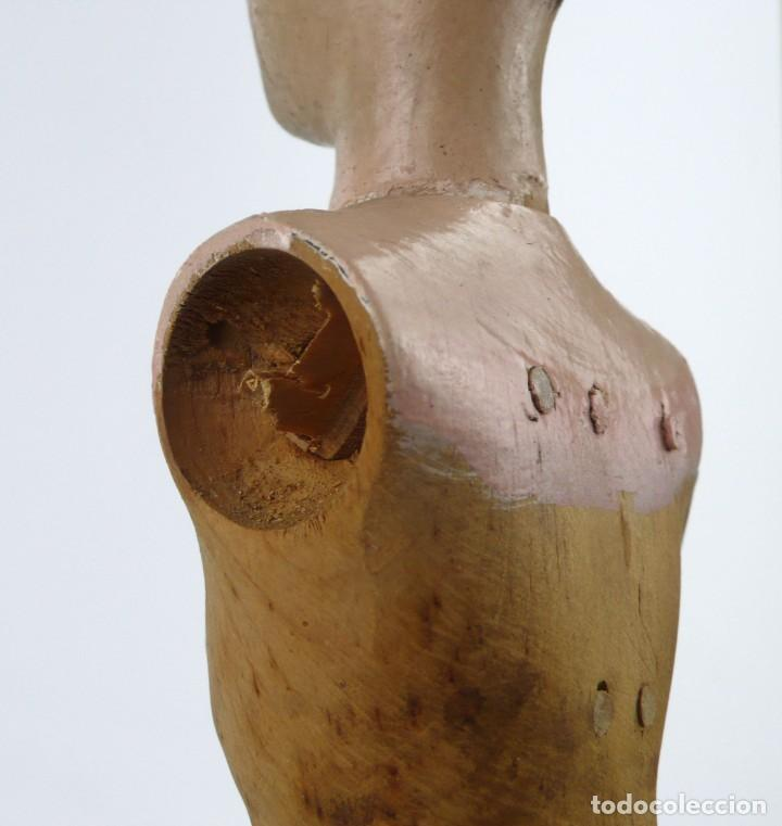 Antigüedades: Lay Figure, an articulated artists mannequin - carved wood - 33 cm - Francia,Ca.1820-40 - Foto 13 - 206316445