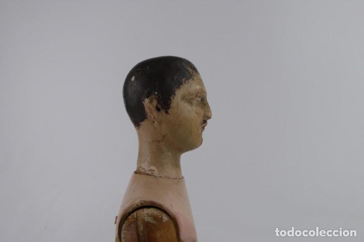 Antigüedades: Lay Figure, an articulated artists mannequin - carved wood - 33 cm - Francia,Ca.1820-40 - Foto 15 - 206316445