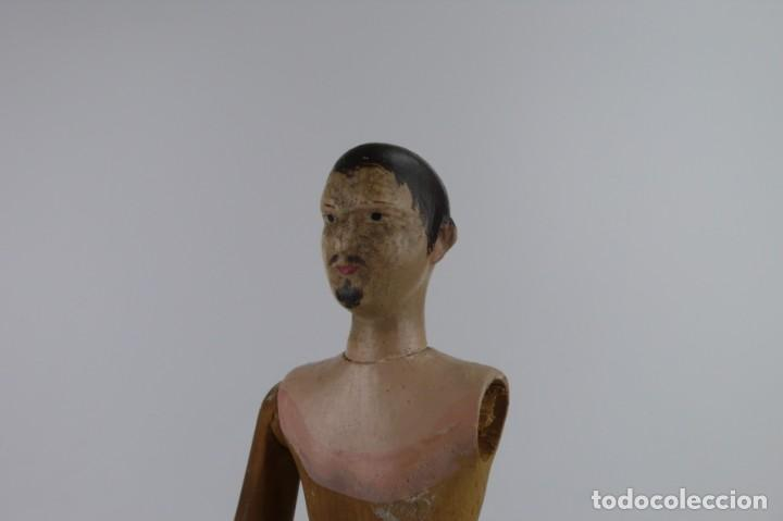 Antigüedades: Lay Figure, an articulated artists mannequin - carved wood - 33 cm - Francia,Ca.1820-40 - Foto 18 - 206316445