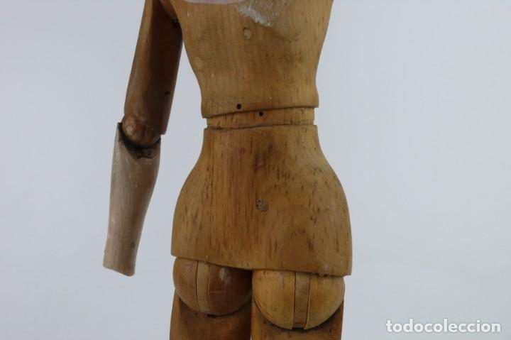 Antigüedades: Lay Figure, an articulated artists mannequin - carved wood - 33 cm - Francia,Ca.1820-40 - Foto 19 - 206316445