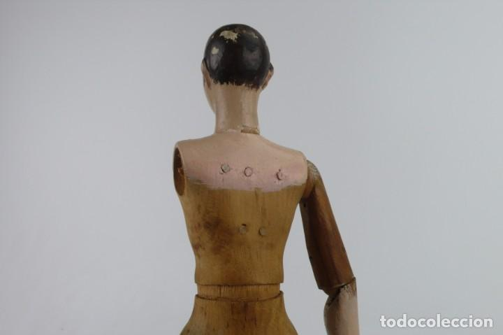 Antigüedades: Lay Figure, an articulated artists mannequin - carved wood - 33 cm - Francia,Ca.1820-40 - Foto 21 - 206316445