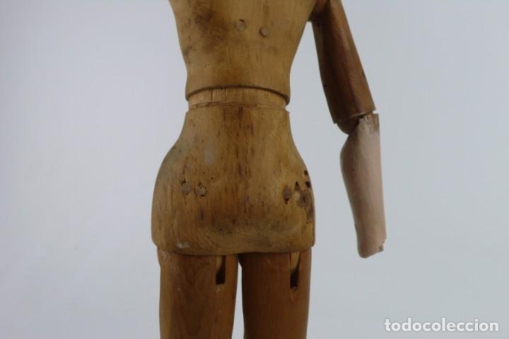 Antigüedades: Lay Figure, an articulated artists mannequin - carved wood - 33 cm - Francia,Ca.1820-40 - Foto 22 - 206316445