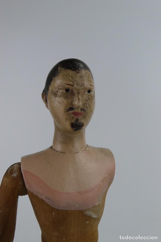 Antigüedades: Lay Figure, an articulated artists mannequin - carved wood - 33 cm - Francia,Ca.1820-40 - Foto 27 - 206316445