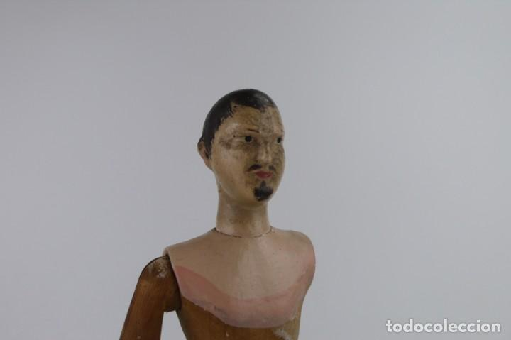 Antigüedades: Lay Figure, an articulated artists mannequin - carved wood - 33 cm - Francia,Ca.1820-40 - Foto 28 - 206316445