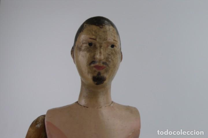 Antigüedades: Lay Figure, an articulated artists mannequin - carved wood - 33 cm - Francia,Ca.1820-40 - Foto 31 - 206316445