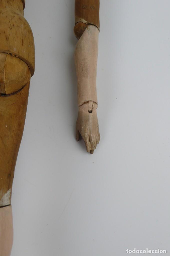 Antigüedades: Lay Figure, an articulated artists mannequin - carved wood - 33 cm - Francia,Ca.1820-40 - Foto 32 - 206316445