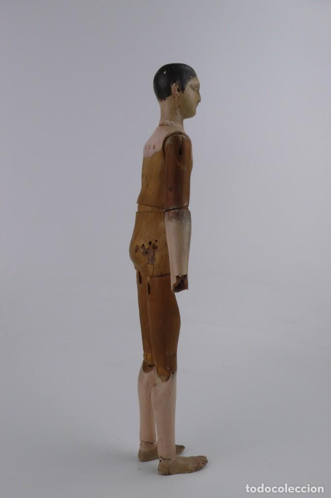 Antigüedades: Lay Figure, an articulated artists mannequin - carved wood - 33 cm - Francia,Ca.1820-40 - Foto 36 - 206316445