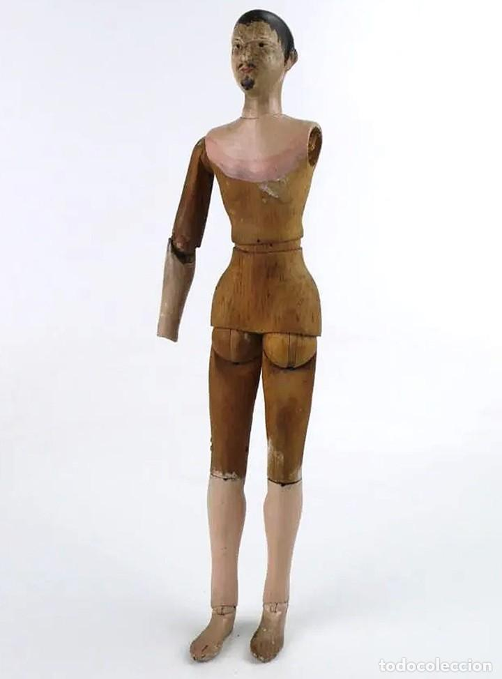 Antigüedades: Lay Figure, an articulated artists mannequin - carved wood - 33 cm - Francia,Ca.1820-40 - Foto 5 - 206316445