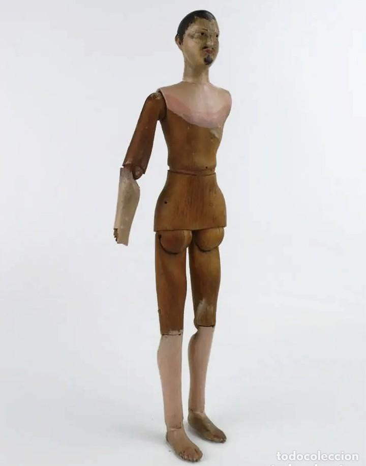 Antigüedades: Lay Figure, an articulated artists mannequin - carved wood - 33 cm - Francia,Ca.1820-40 - Foto 4 - 206316445