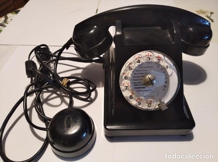 ANTIGUO TELEFONO FRANCES (Antigüedades - Técnicas - Teléfonos Antiguos)