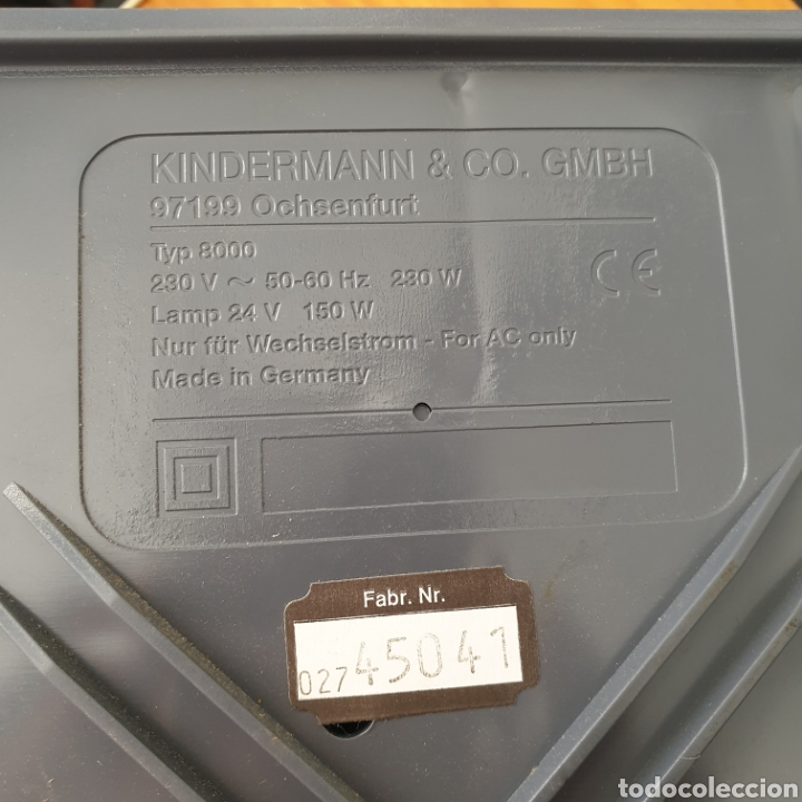 Antigüedades: Vintage Proyector de diapositivas Kindermann diafocus 1500e Kindermann color 2,8/90 mc Germany - Foto 3 - 206390297