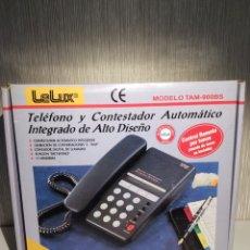 Teléfonos: TELÉFONO Y CONTESTADOR AUTOMÁTICO LELUX MODELO TAM-900BS NUEVO. Lote 206395918