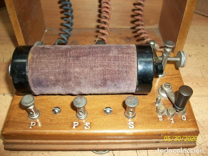 Antigüedades: ANTIGUO APARATO MEDICO-PARA DAR CORRIENTE-INGLES - Foto 2 - 206444198