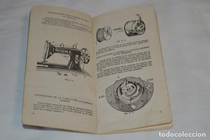 Antigüedades: Antiguo / Vintage - Guía / Folleto - Instrucciones para utilizar la Máquina de coser SIGMA - ¡Mira! - Foto 3 - 206449383