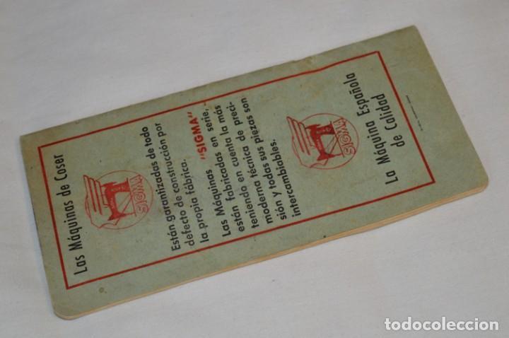 Antigüedades: Antiguo / Vintage - Guía / Folleto - Instrucciones para utilizar la Máquina de coser SIGMA - ¡Mira! - Foto 6 - 206449383