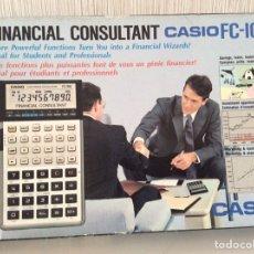 Antigüedades: CALCULADORA CASIO FC100 FINANCIAL NUEVA A ESTRENAR CON CAJA E INSTRUCCIONES. Lote 206453641
