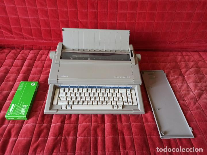 MAQUINA DE ESCRIBIR ELECTRICA OLIVETTI LETTERA E 501-II (FUNCIONANDO) (Antigüedades - Técnicas - Máquinas de Escribir Antiguas - Olivetti)