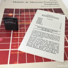 """Antigüedades: HEWLETT PACKARD MÓDULO """"X MEMORY"""" HP 82181A PARA HP-41C, HP-41CV, HP-41CX - HP41C, HP41CX. Lote 206491886"""