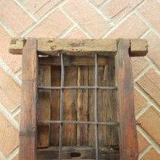 Antigüedades: MAGNIFICA ANTIGUA VENTANA CON REJA FORJA SIGLO XVIII. Lote 206516322