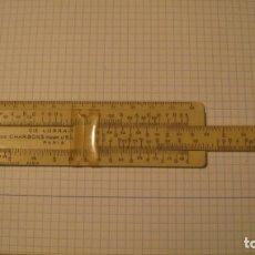 Antigüedades: ANTIGUA REGLA DE CÁLCULO FRANCESA. Lote 206523841