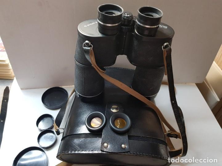 PRISMÁTICOS MILITARES TENTO 10X50 COMPLETOS Y FILTROS ANTI REFLEJOS EN FUNDA ORIGINAL (Antigüedades - Técnicas - Instrumentos Ópticos - Prismáticos Antiguos)