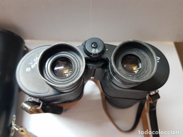 Antigüedades: Prismáticos militares Tento 10x50 completos y filtros anti reflejos en funda original - Foto 2 - 206547227