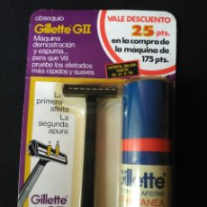 Antigüedades: BLISTER GILLETTE G II DEL AÑO 1976 LEER DESCRIPCION. Lote 206574442