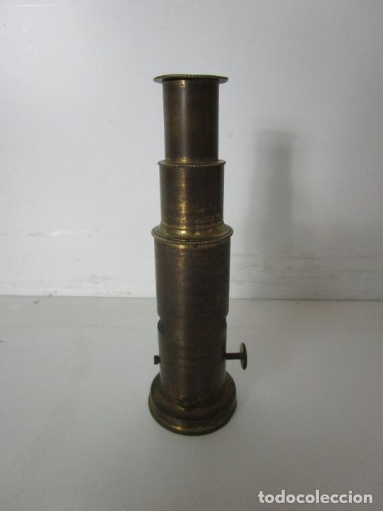 Antigüedades: Microscopio de Campo - Latón - Desmontable, Roscas Perfectas - Circa 1890-1920 - Foto 5 - 206603650