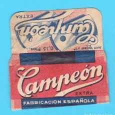 Antigüedades: HOJA DE AFEITAR CAMPEÓN. ESPAÑOLA. EN REVERSO DE PESTAÑA PONE: 0,15 PTAS DISTINTO.. Lote 206761502