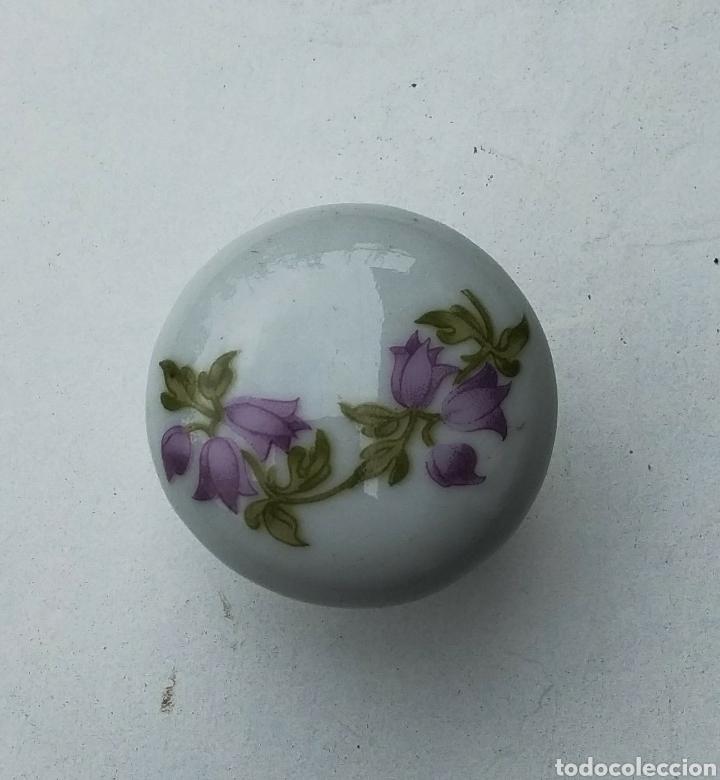 Antigüedades: Pomo tirador de porcelana - Foto 2 - 206761817