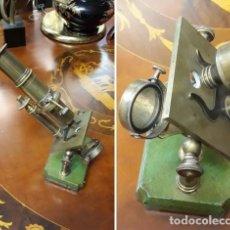 Antigüedades: MICROSCOPIO FRANCES SIGLO XIX. ORIGINAL. BRONCE.MUY BUEN ESTADO.. Lote 206762526