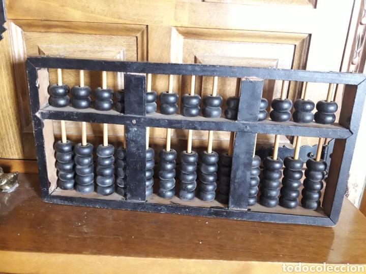 Antigüedades: Antiguo ábaco de madera chino - Foto 3 - 206777770