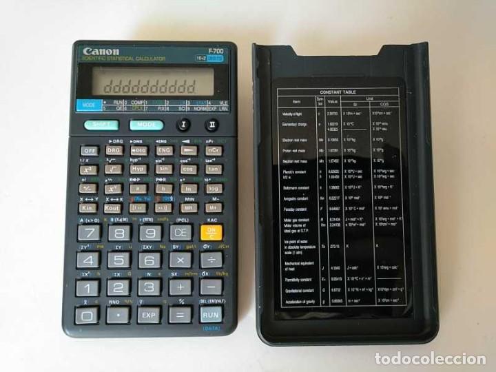 CALCULADORA CANON F-700 PROGRAMABLE CIENTIFICA ESTADISTICA PROGRAMMABLE STATISTICAL NO FUNCIONA (Antigüedades - Técnicas - Aparatos de Cálculo - Calculadoras Antiguas)