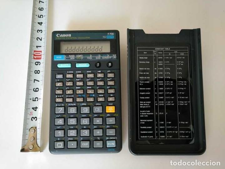 Antigüedades: CALCULADORA CANON F-700 PROGRAMABLE CIENTIFICA ESTADISTICA PROGRAMMABLE STATISTICAL NO FUNCIONA - Foto 2 - 206789071