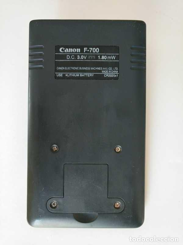Antigüedades: CALCULADORA CANON F-700 PROGRAMABLE CIENTIFICA ESTADISTICA PROGRAMMABLE STATISTICAL NO FUNCIONA - Foto 57 - 206789071