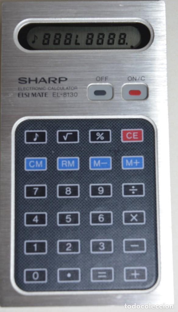 CALCULADORA SHARP EL-8130 ANTIGUA HISTÓRICA (Antigüedades - Técnicas - Aparatos de Cálculo - Calculadoras Antiguas)