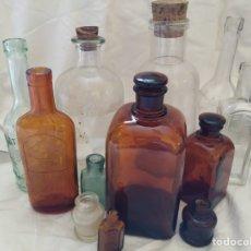 Antigüedades: LOTE FRASCOS MÉDICOS Y CIENTÍFICOS BOTICA O PRODUCTOS QUÍMICOS. Lote 206866967