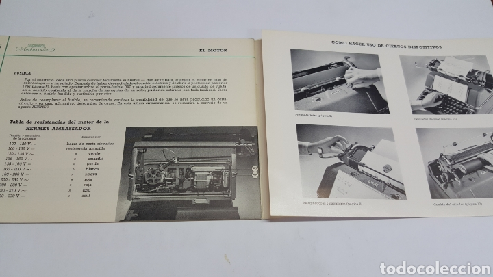 Antigüedades: Manual de Instrucciones original Máquina de escribir Hermes Ambassador - Foto 3 - 206897678