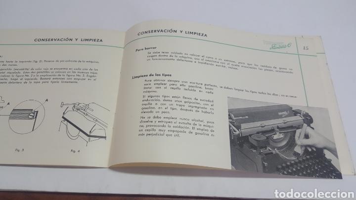Antigüedades: Manual de Instrucciones original Máquina de escribir Hermes Standard 6 - Foto 4 - 206897993