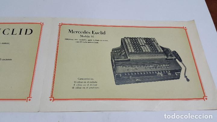 Antigüedades: Folleto publicidad Máquina de cálculo Mercedes Euclid Modelo 16 - Foto 3 - 206899077