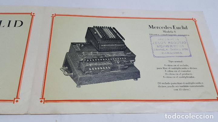 Antigüedades: Folleto publicidad Máquina de cálculo Mercedes Euclid Modelo 8 - Foto 3 - 206899182