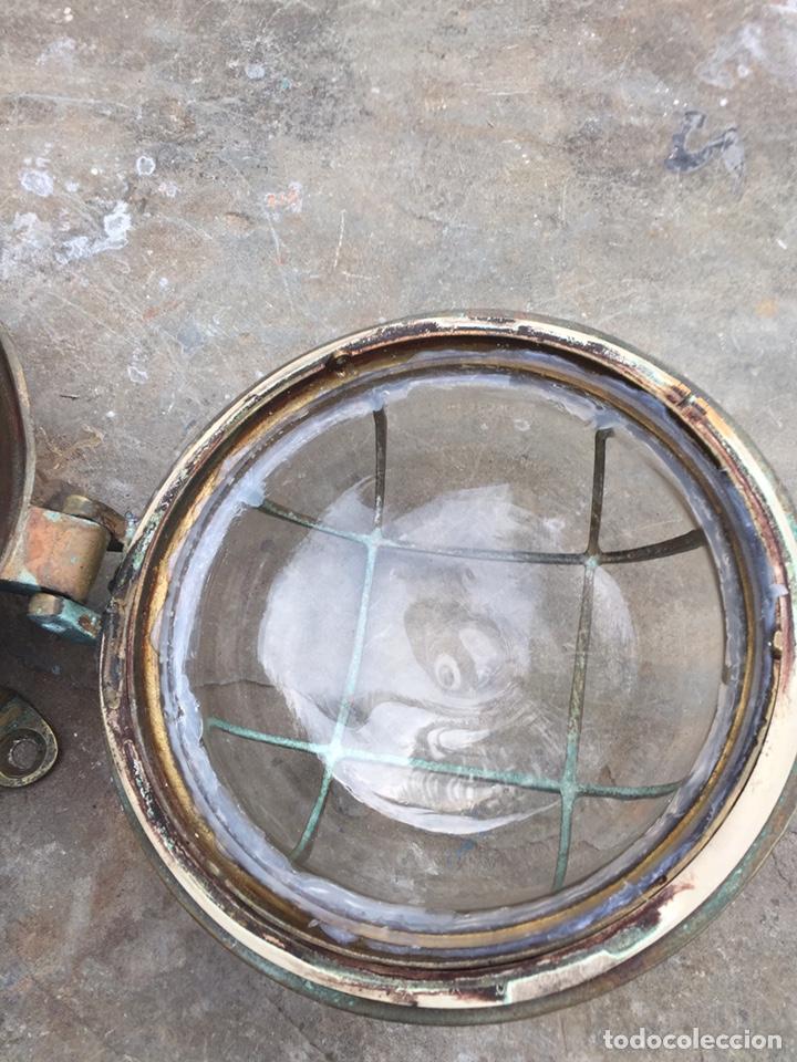 Antigüedades: Aplique ojo de buey.Farol de barco - Foto 4 - 206931048