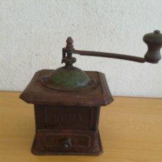 Antigüedades: GRAN MOLINILLO CAFE ANTIGUO ELMA LATA. Lote 206932380