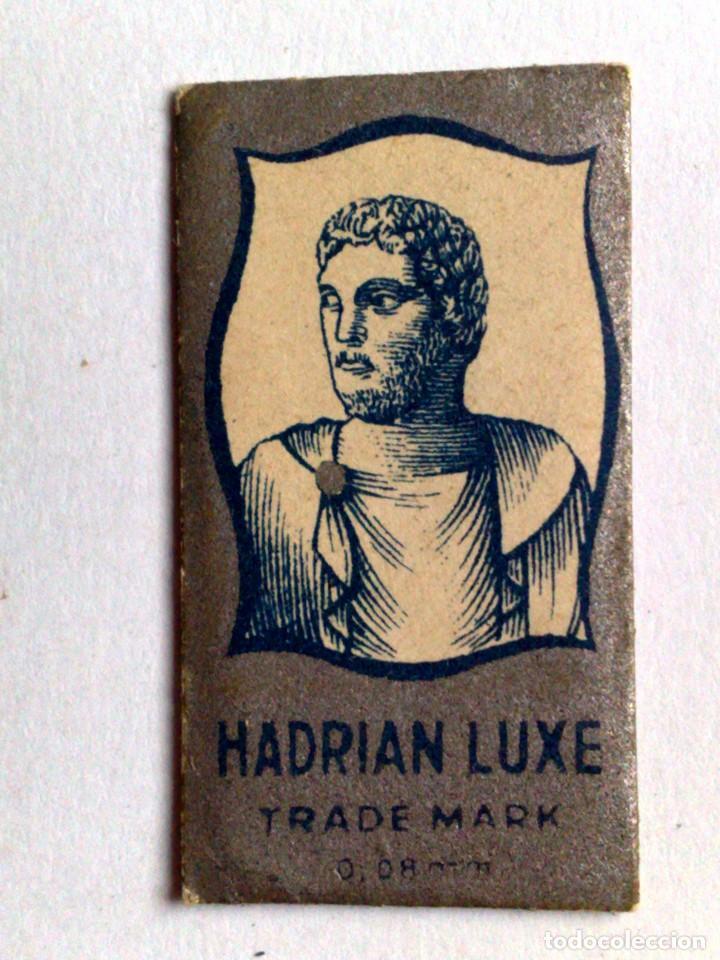 HOJA DE AFEITAR ANTIGUA,HADRIAN LUXE,SIN USAR (Antigüedades - Técnicas - Barbería - Hojas de Afeitar Antiguas)