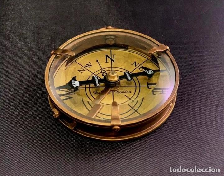 Antigüedades: Brújula de barco - Compás náutico - con estuche de piel - Dollond London Instrumento cientifico - Foto 3 - 206963688