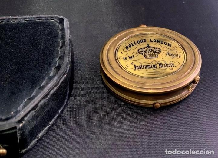Antigüedades: Brújula de barco - Compás náutico - con estuche de piel - Dollond London Instrumento cientifico - Foto 4 - 206963688