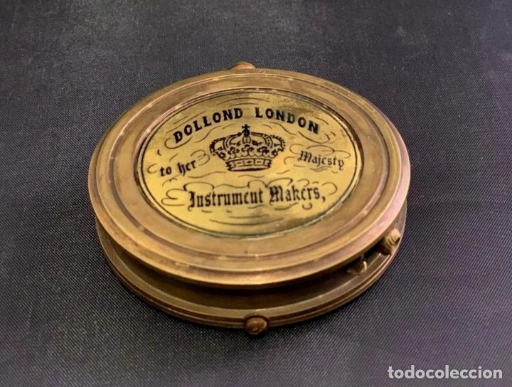 Antigüedades: Brújula de barco - Compás náutico - con estuche de piel - Dollond London Instrumento cientifico - Foto 5 - 206963688