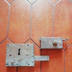 Antigüedades: CERRADURAS ANTIGUAS. Lote 206975453