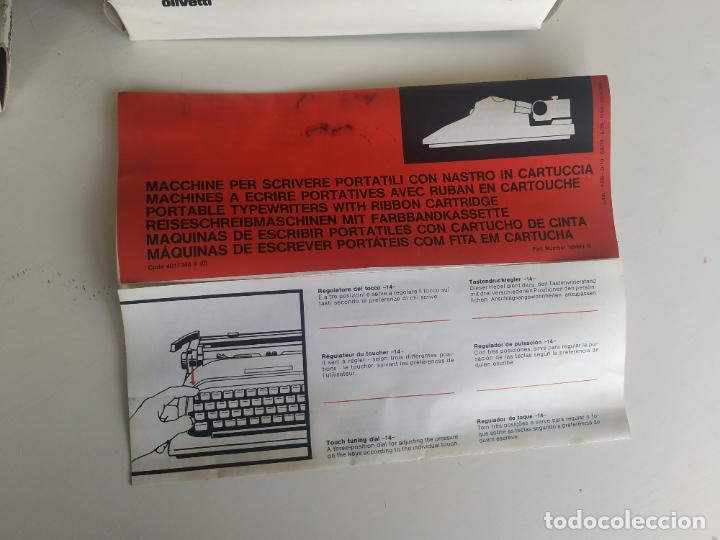 Antigüedades: Máquina de escribir Olivetti Lettera 10 + 2 cartuchos cinta. Maletín. Funcionando - Foto 12 - 206983320