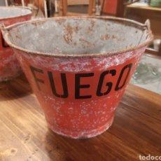 Antigüedades: ANTIGUO CUBO BOMBEROS ANTIINCENDIOS. Lote 206999113